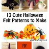 Halloween Felt Patterns That Are Cute, Quick and EASY!