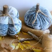 Autumn Leaves Falling Velvet Fabric Pumpkins Decor & DIY