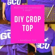 DIY Crop Top - Sew And No Sew Instructions