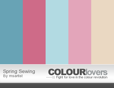 """Simple Spring Sewing """" Color Pallets"""""""
