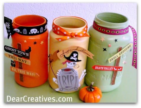 DIY Mason Jars For Fall And Halloween!