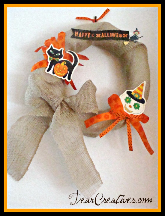 Burlap Halloween Wreath DIY