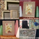 christmas,Tutorial re-purpose picture frame to holiday decor, holiday decor, tutorial