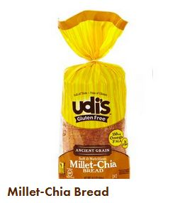 Udis Millet Chia Bread, loaf of bread