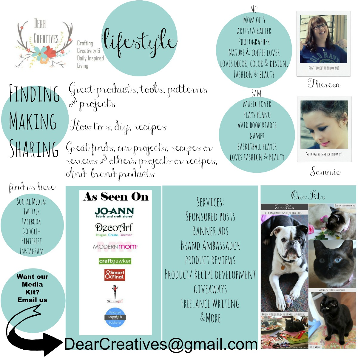 About Page_DearCreatives.com_© 2015 Theresa Huse a lifestyle site with DIY Crafts