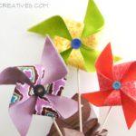 Pinwheels, Fabric, Felt, Crafting, Fabric Pinwheels, Felt Pinwheels, Spring Crafts
