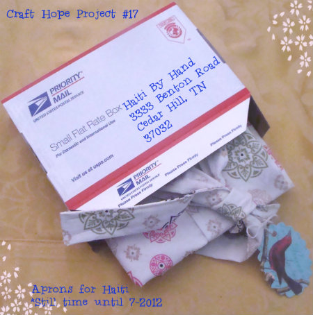 Still Time Update #Craft Hope – Aprons for Haiti + Completed Project