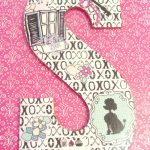 Mod Podge Collaged Letter, paper-crafts, crafting, tutorial, diy, Google Doc, PFD