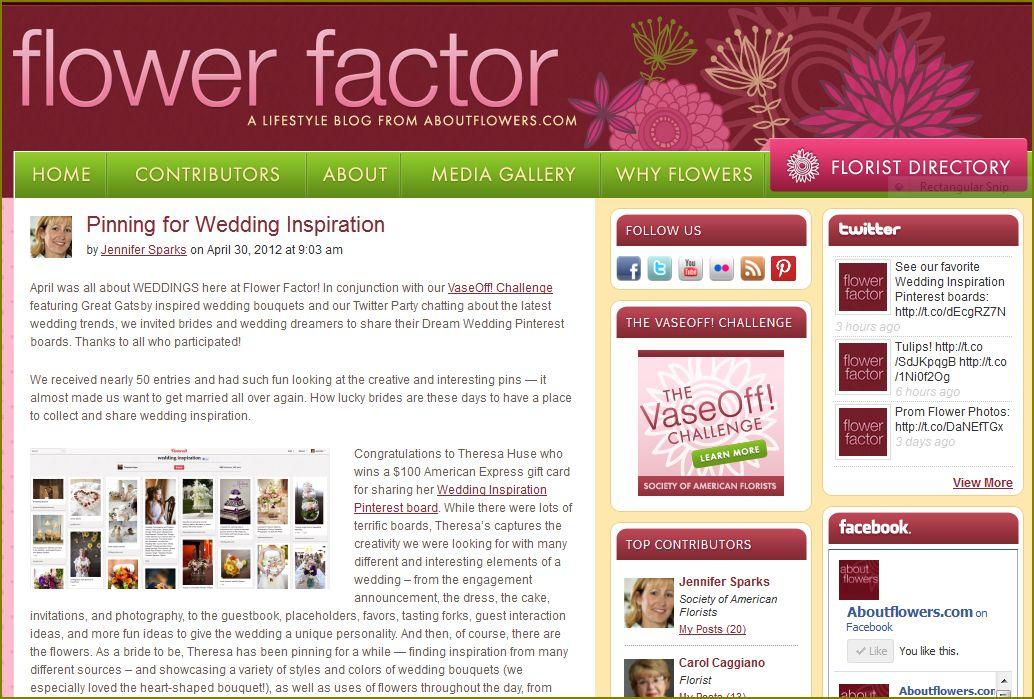 Wedding Inspiration Pinterest Boards & Wedding Flowers