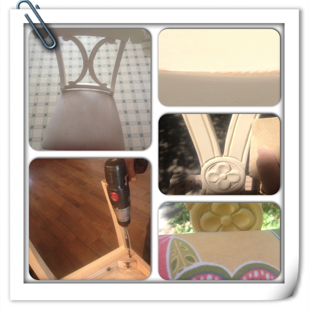 """Thrifty Tuesday """"Pottery Barn Chairs Re-Purpose Part 1"""""""