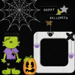 Happy Halloween Photo Frame Image, Halloween Scrapbook Page