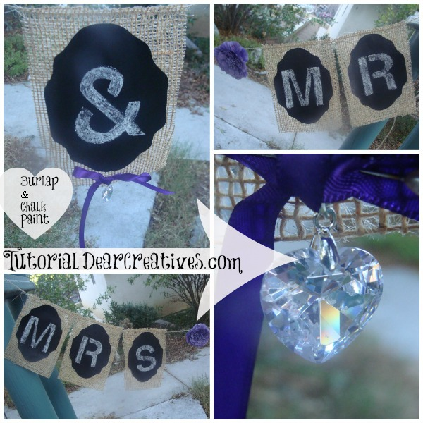 Wedding Banner Tutorial- Mr. & Mrs. (Burlap & Chalk Paint)
