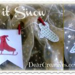 banners, winter banner,Cricut Paper Crafts, Paper Crafts, Mittens & IceSkates