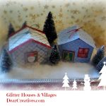 Glitter houses, Glitter Village, Christmas glitter houses & villages