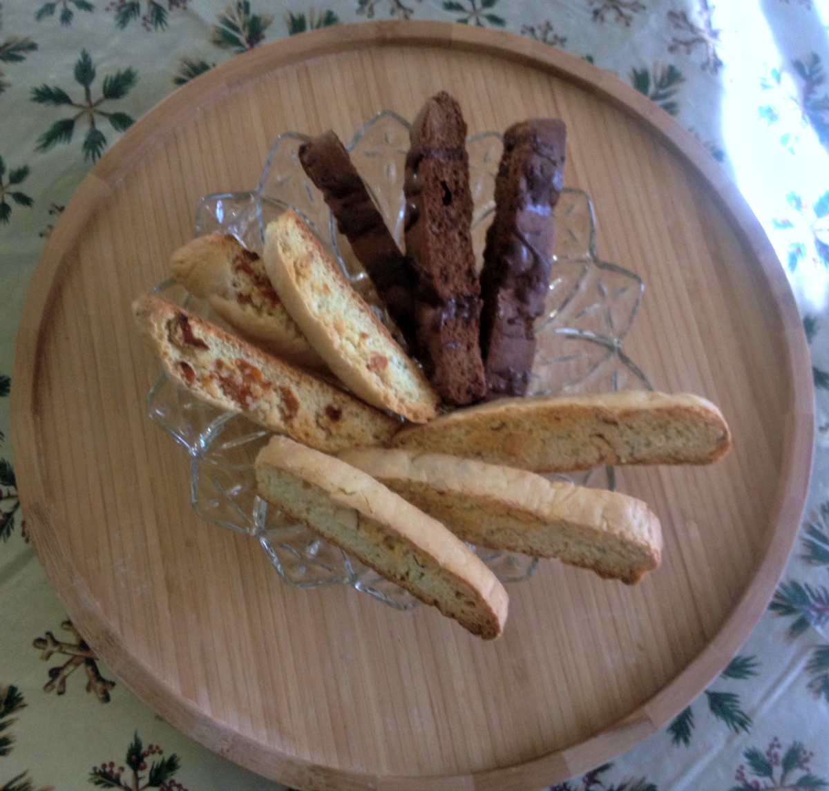 Plate of Biscotti Cookies, Almond, Apricot, Chocolate Theresa Huse 2012 Dear Creatives.com
