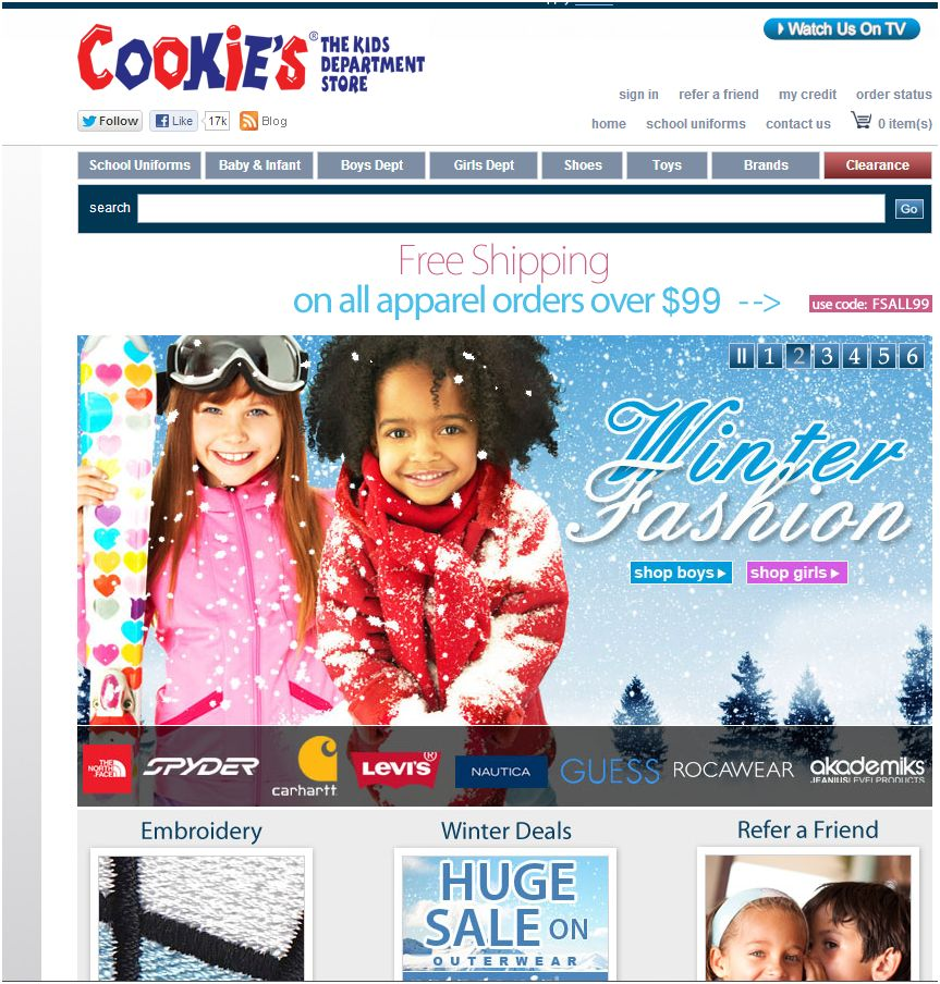 Cookies kids 13. Main home page