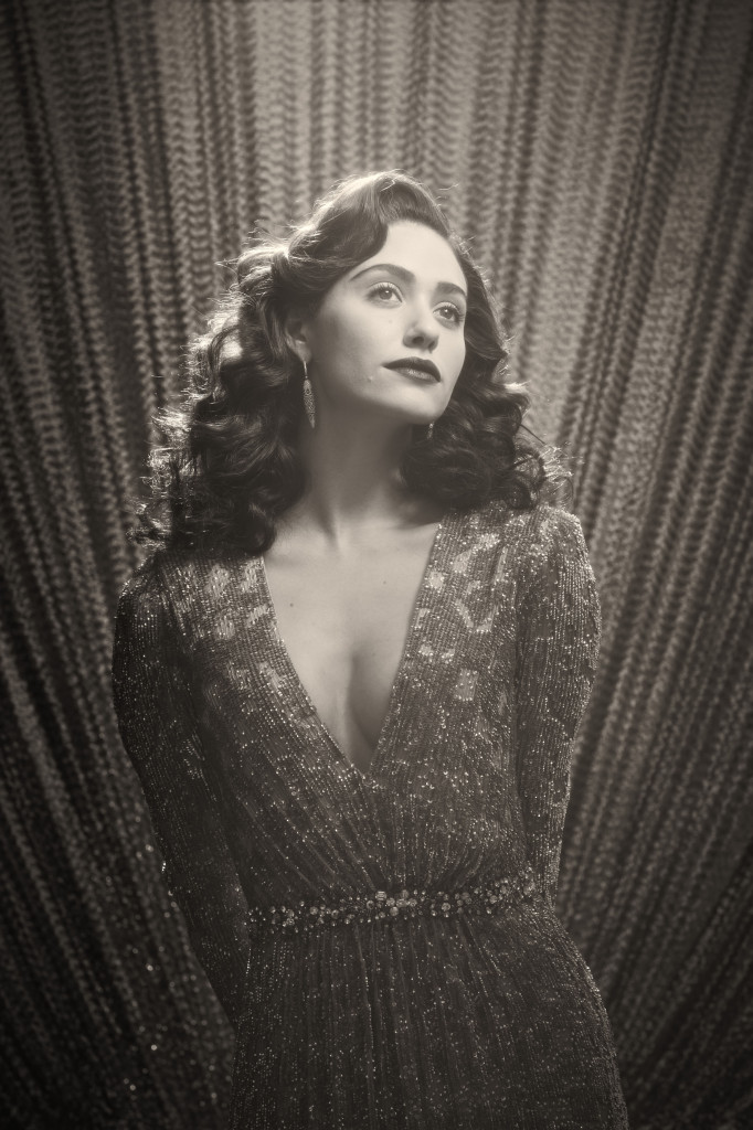 Emmy Rossum, Sentimental Journey, Emma Rossum 40's style pose