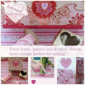 Favor Boxes Valentine boxes & Valentines Mail Boxes Tutorial DearCreatives.com Theresa Huse 2012