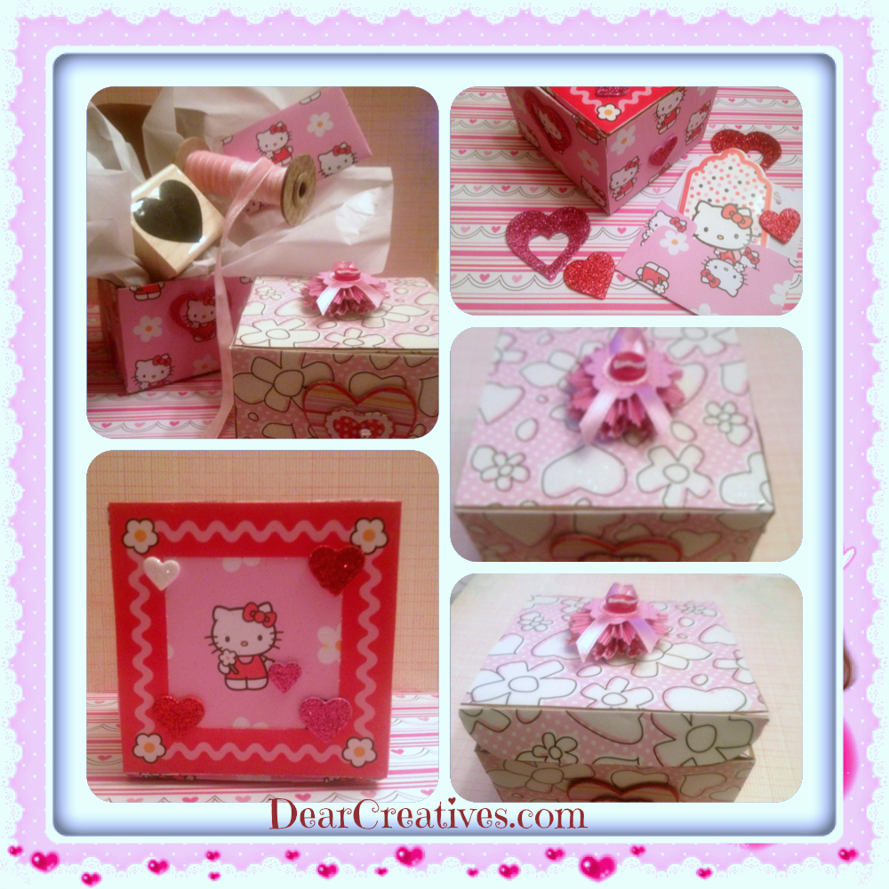 paper-crafts, decorated Valentines boxes