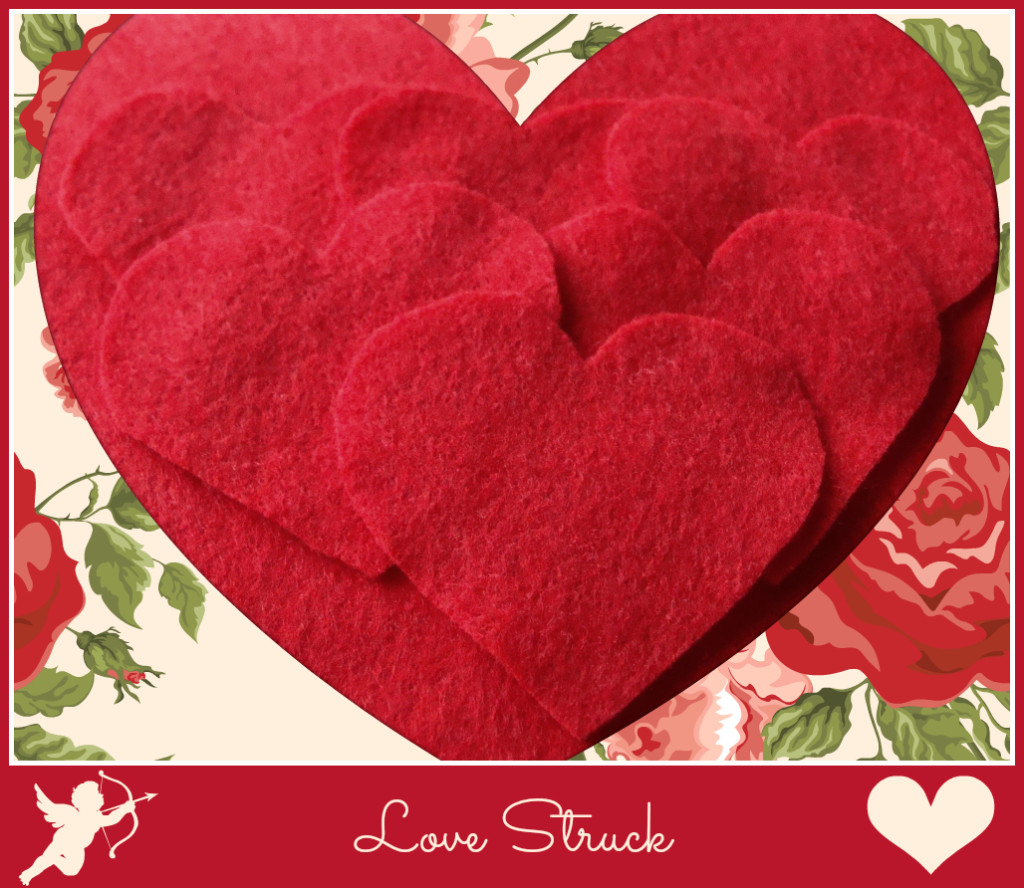 Love struck Valentines hearts