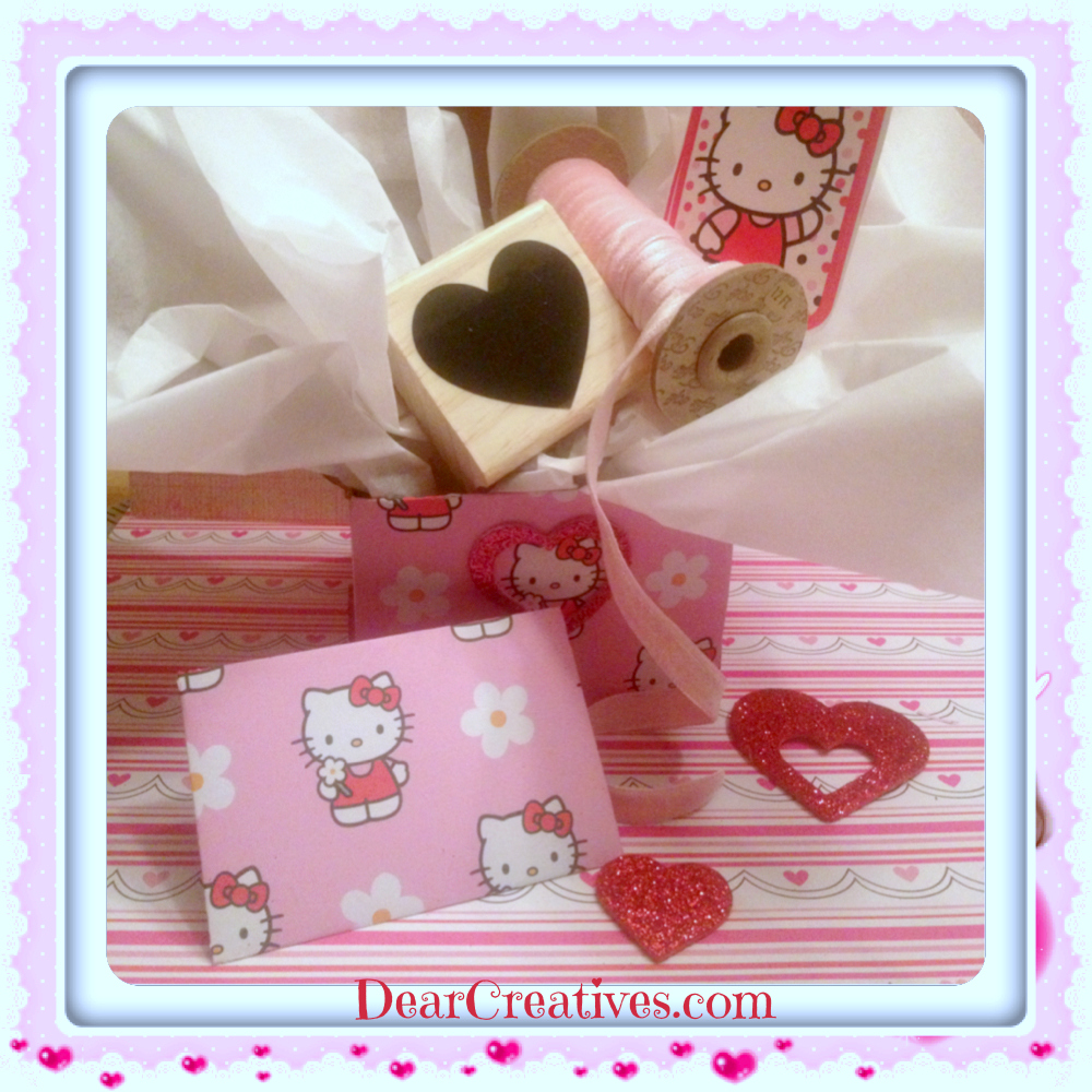Valentine box, envelope heart stamp, paper-crafts