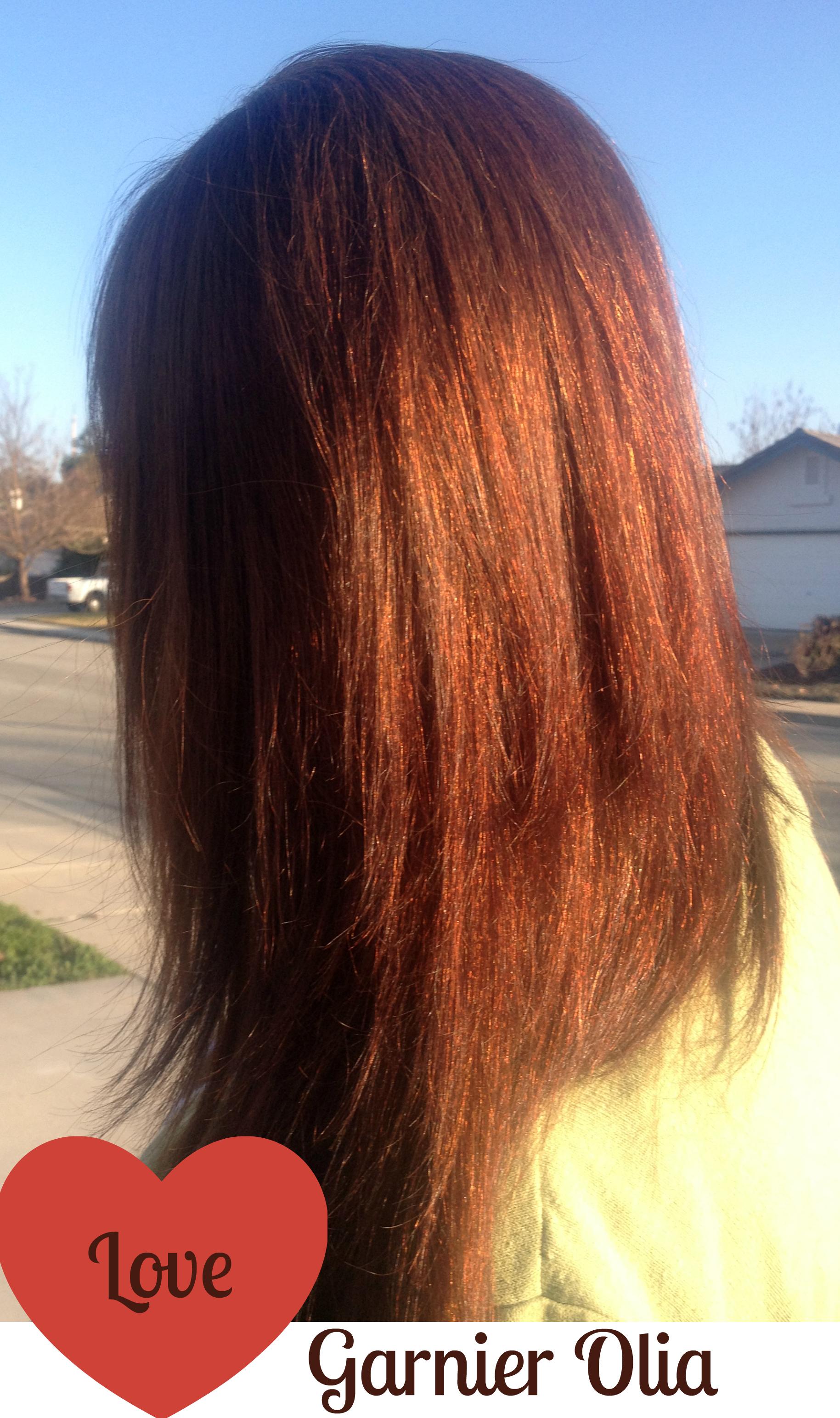 Colored Hair Garnier Olia Review