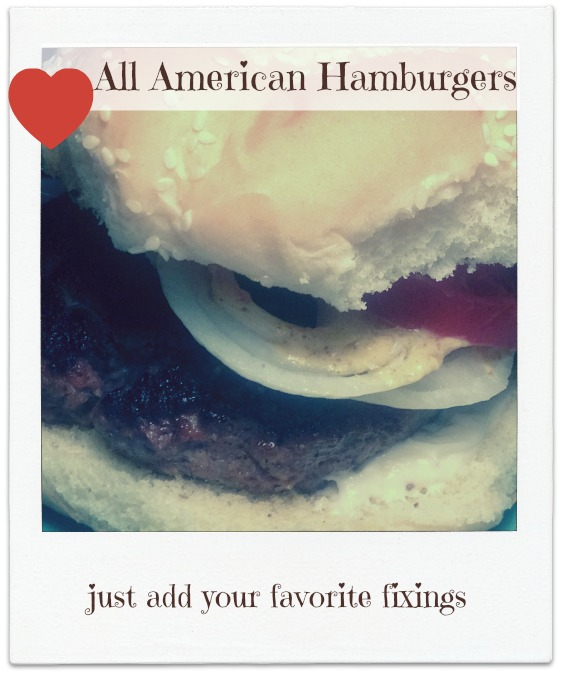 hamburger on bun, all American Burger Dear Creatives.com Theresa Huse 2013