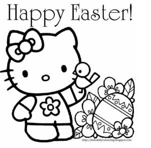 Hello-Kitty-Easter-Coloring-Page