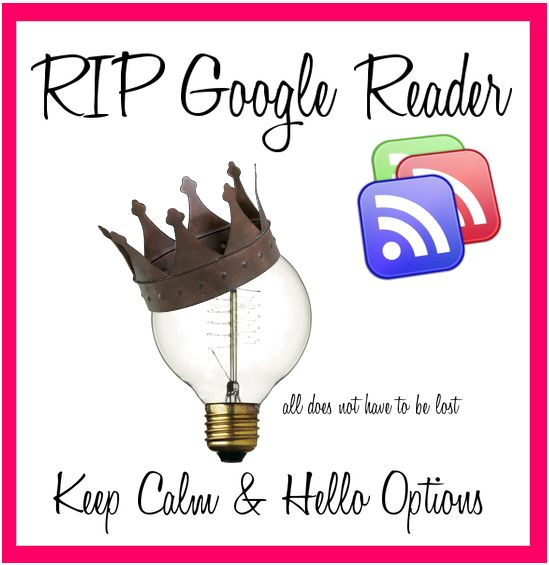 RIP Google Reader, Google Reader Options