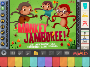 mibblio app, mibblio monkey jamboree,