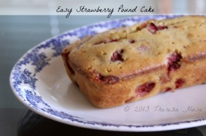 Strawberry Pound Cake, Baking Recipe