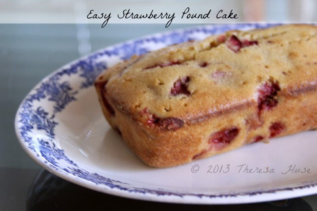 Strawberry Pound Cake, Pound Cake, Strawberry Pound Cake on a platter Theresa Huse 2013-0683