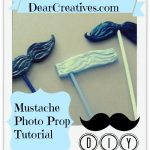 Mustache Photo Prop Tutorial, Diy, Theresa Huse 2013