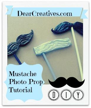 Mustache Photo Prop Tutorial, Theresa Huse 2013