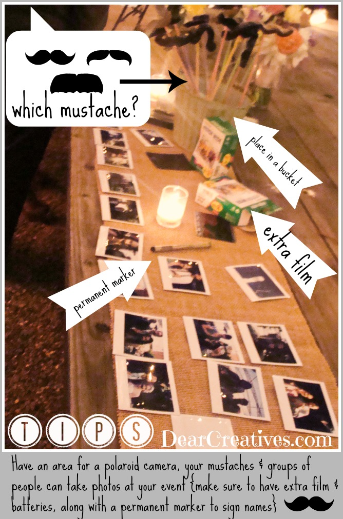 Mustache Prop Party tips, Mustache  propsTheresa Huse 2013-