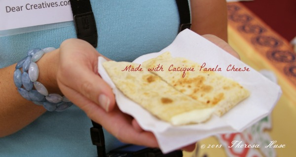 Smart and Final ,quesadilla made with Cacique  Panela cheese Theresa Huse 2013