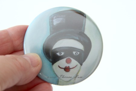 Vintage Clown Button © 2013Theresa Huse 2013-