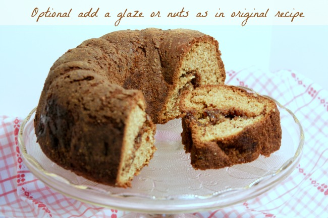 Whole Wheat Cinnamon Bundt Cake