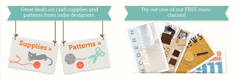 Craftsy screen shot supplies, free patterns, free mini classes
