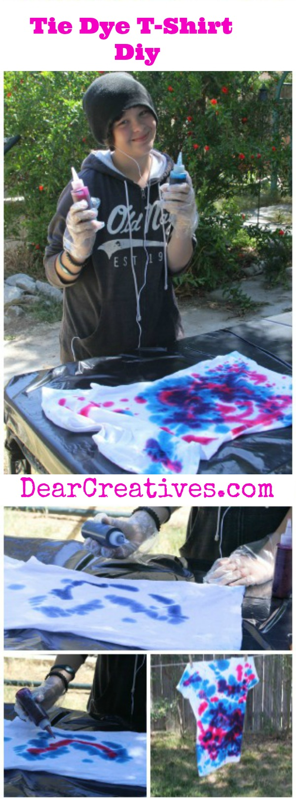 Diy, Sammie (Girl Tie Dying) Tie Dye T-Shirt Project © 2013 Theresa Huse DearCreatives.com