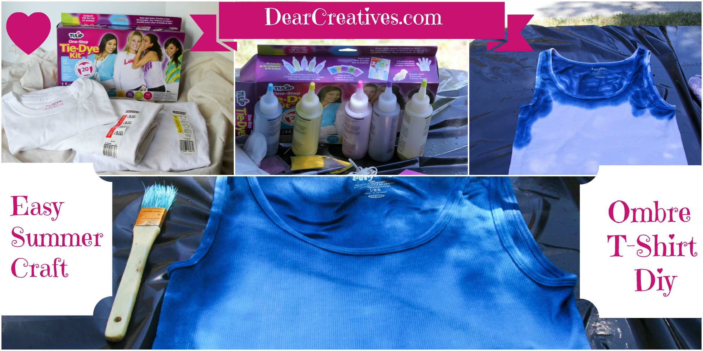 Easy Summer Craft Tulip Tie Dye Kit & Ombre Effect © 2013 Theresa Huse DearCreatives.com