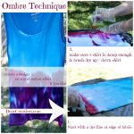 Step by Step Ombre Effect with Completed Tee Shirt © 2013 Theresa Huse DearCreatives.com