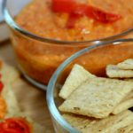 red bell pepper hummus, Hummus Dip with Triscut Brown Rice, Sea Salt & Black Pepper Crackers, Theresa Huse 2013