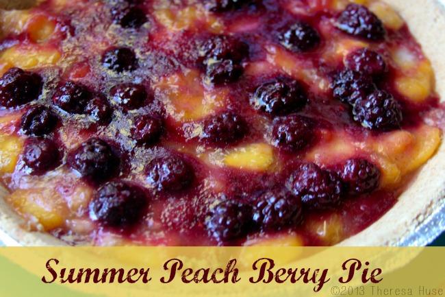 Summer Peach, Berry Pie, Pie, Theresa Huse 2013-
