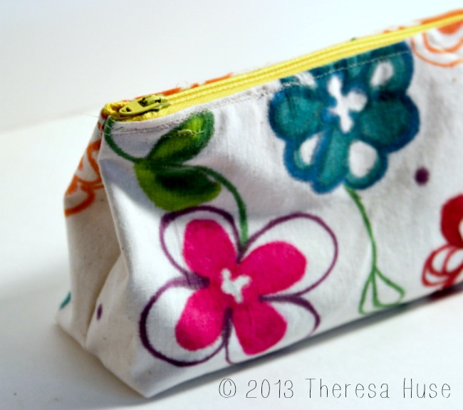 Zipper Pouch, handmade fabric, Theresa Huse 2013-