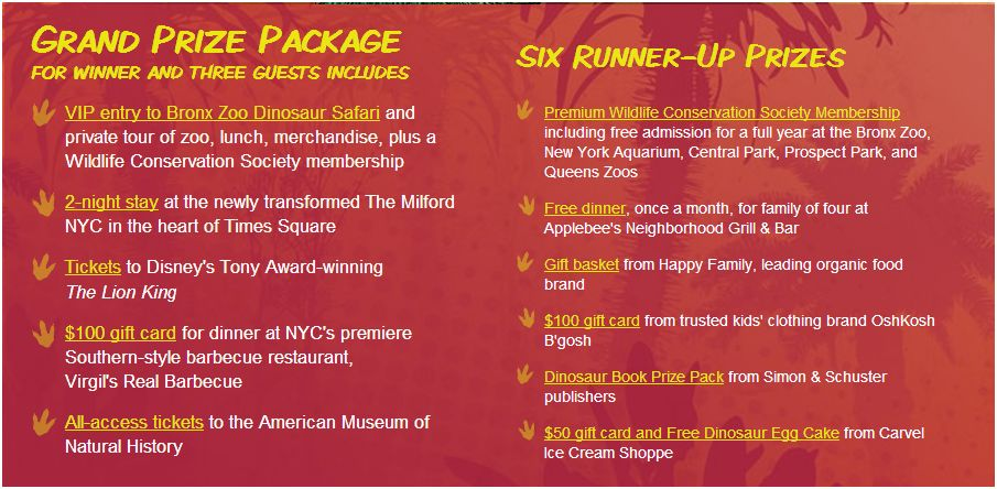 bronx zoo safari sweepstakes prizes  image