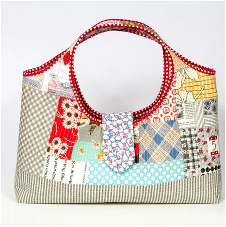 quilt as you go purse, bag
