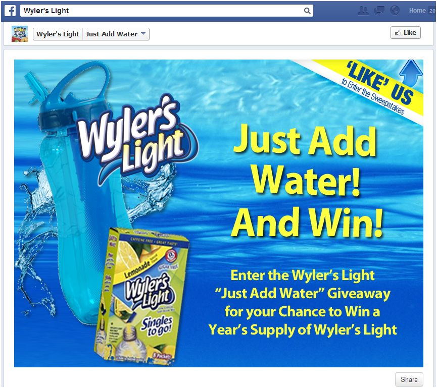 Perfect On The Go Beverage Wyler's Light #JustAddWater