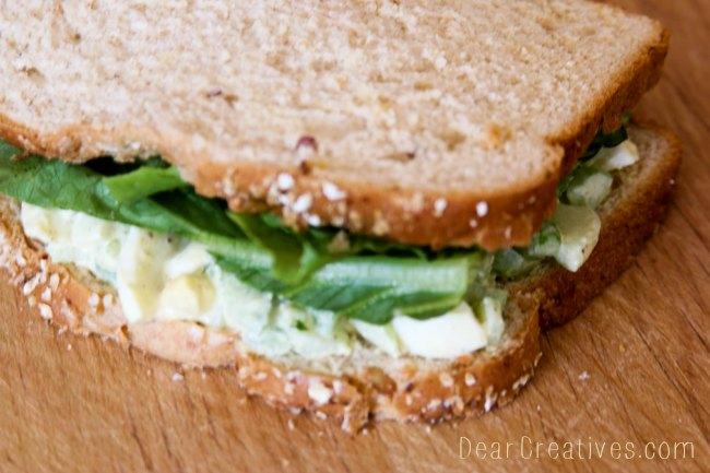 Egg Salad Sandwich - DearCreatives.com