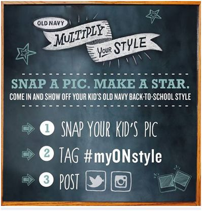 Old Navy, Snap a pick make a star, multiply your style